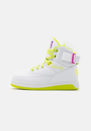 High-top trainers - white/lime punch/dewberry