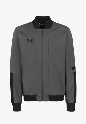ACCELERATE JACKET - Trainingsvest - pitch gray / black