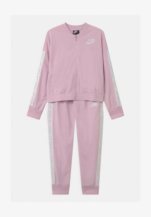 SET - Trainingsanzug - arctic pink/white