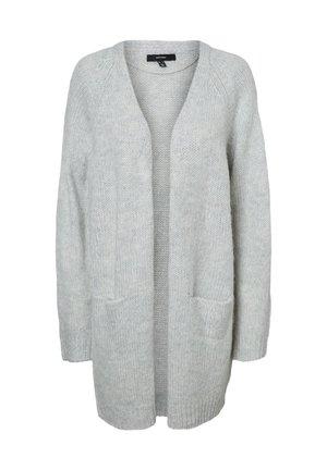 STRICKJACKE OFFENE - Cardigan - light grey melange