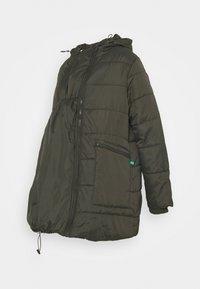 Modern Eternity - GIANNA QUILTED PUFFER HYBRID MATERNITY JACKET - Light jacket - khaki - 2