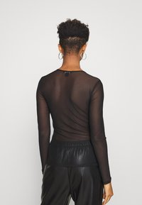Monki - JOSSAN - Long sleeved top - black dark