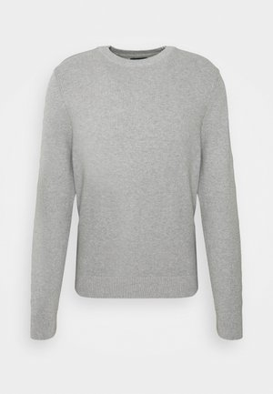 ANDY STRUCTURE C-NECK - Pullover - stone grey melange