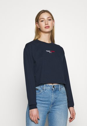 BADGE LONGSLEEVE - Long sleeved top - twilight navy
