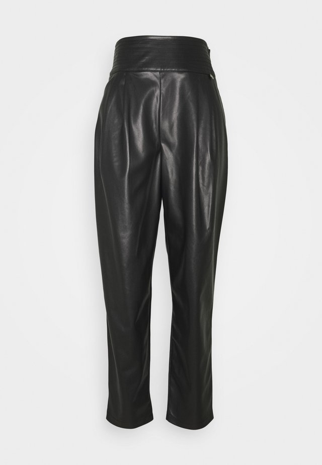 Leather trousers - nero