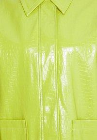 Topshop - ALMA CROC SHACKET - Short coat - green - 2
