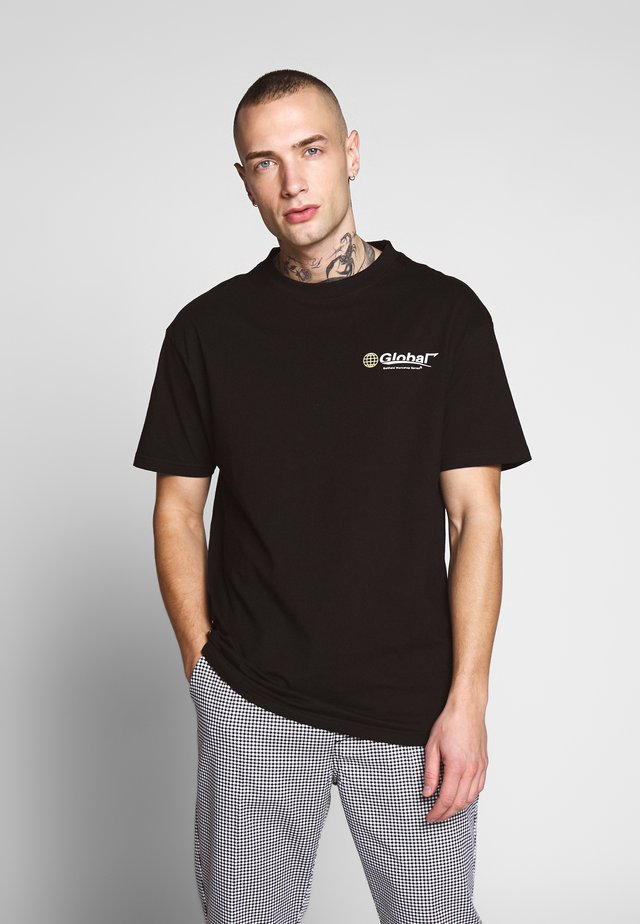 GLOBAL WORKSHOP PRINT TEE - T-shirt print - black