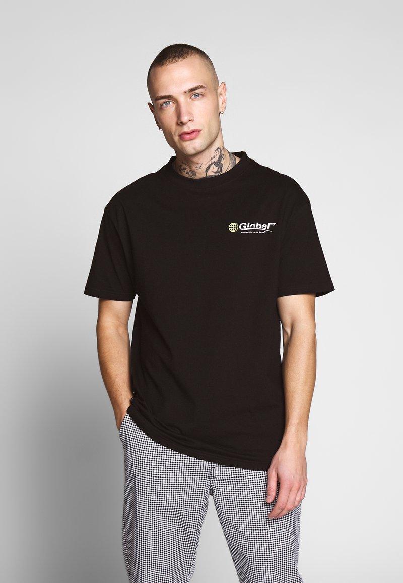 Bellfield - GLOBAL WORKSHOP PRINT TEE - Print T-shirt - black