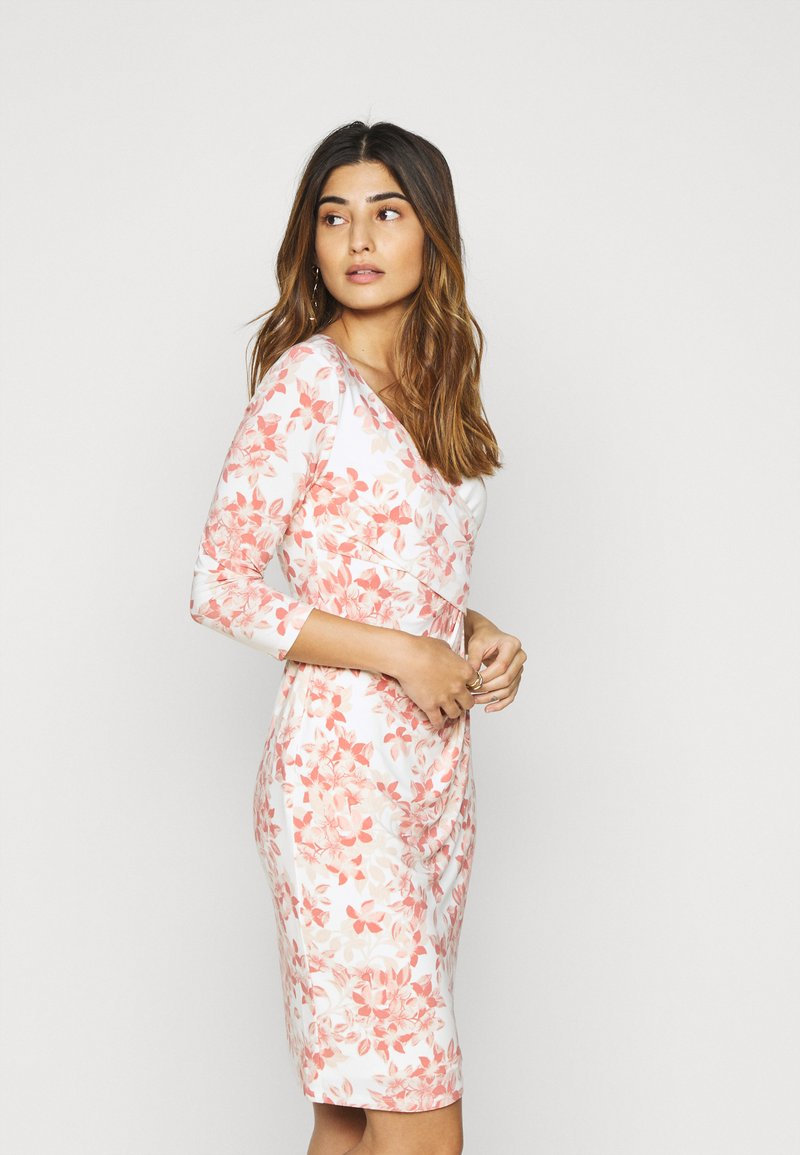 Lauren Ralph Lauren Petite - CLEORA - Shift dress - cream/pink/multi