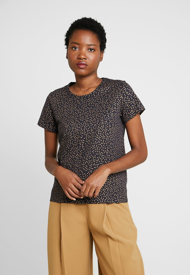 RATA  - T-shirt print - gold/navy