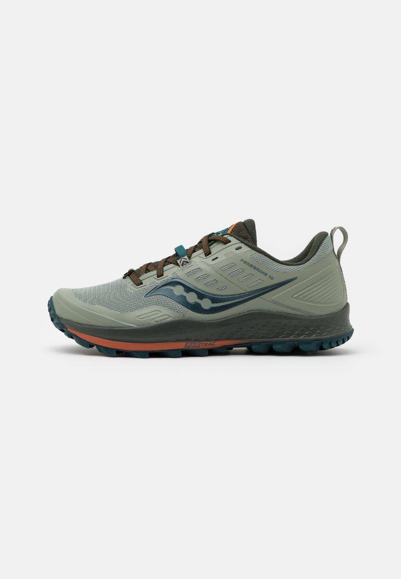 Saucony - PEREGRINE 10 - Trail running shoes - pine/orange