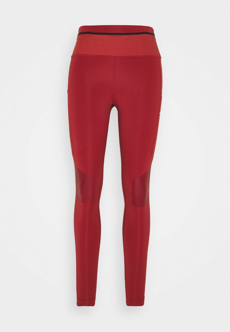 Nike Performance - EPIC LUXE TRAIL - Tights - dark cayenne/cerulean/silver