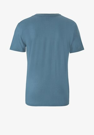 Print T-shirt - blau-schwarz