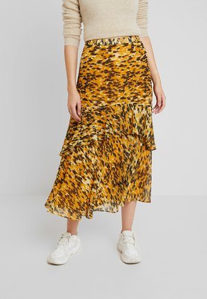 IKAT ANIMAL NORA SKIRT - Spódnica trapezowa - yellow/multi