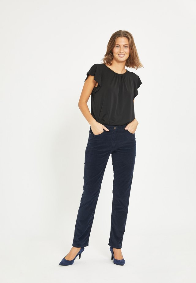 CHARLOTTE - Trousers - navy