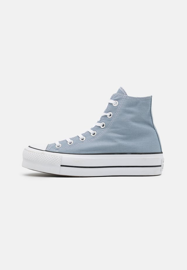 CHUCK TAYLOR ALL STAR LIFT - Höga sneakers - obsidian mist/white/black