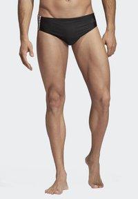 adidas Performance - Fitness 3-Stripes Swim Trunks - Bañador - black/white - 1