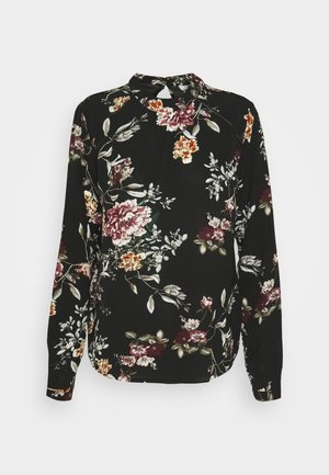 ONLNEW MALLORY BLOUSE - Top s dlouhým rukávem - black/cloud dancer
