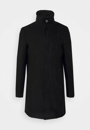 COAT WITH ZIP OUT GILET - Short coat - black