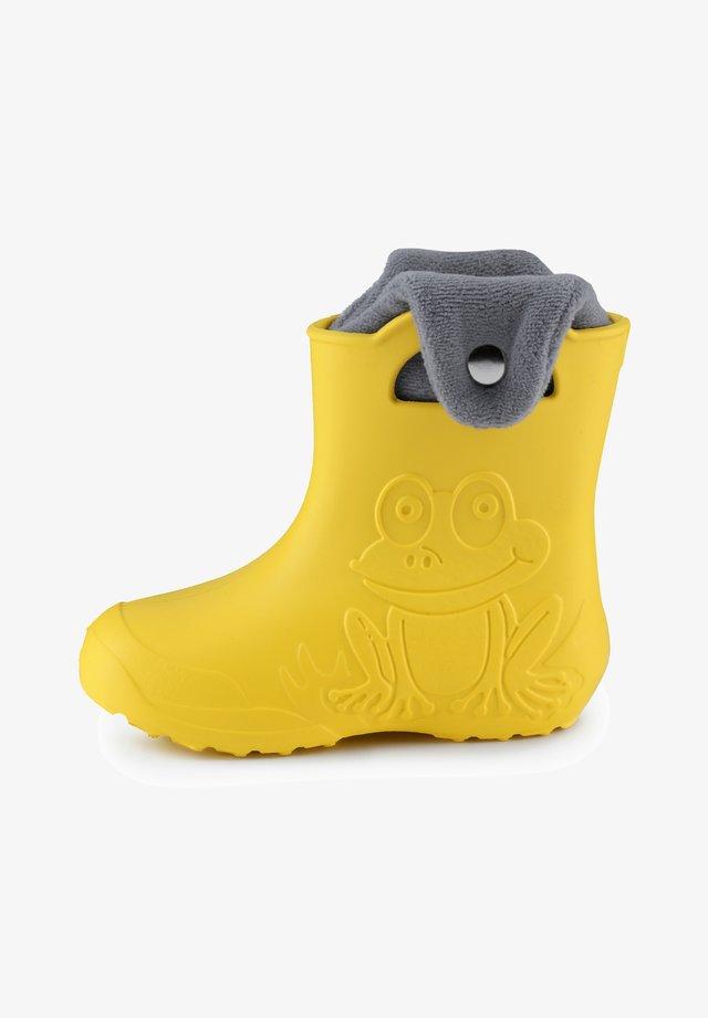 Bottes en caoutchouc - yellow/grey