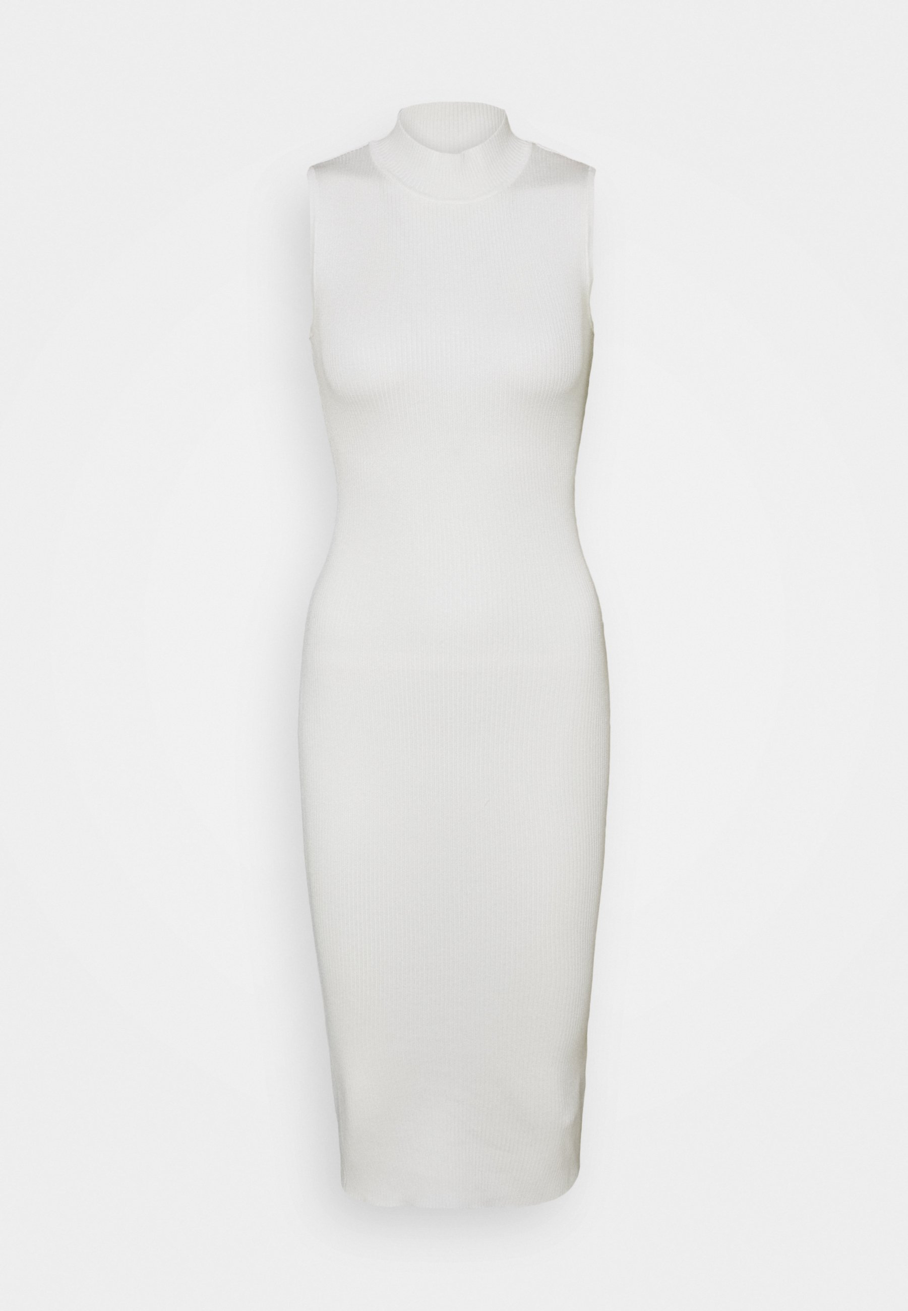 Women HIGH NECK BACKLESS MIDI DRESS - Jumper dress