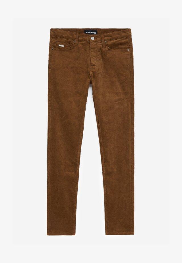 Spodnie materiałowe - tabacco