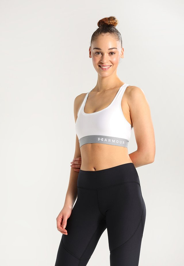 ARMOUR MID CROSSBACK BRA - Sports bra - white