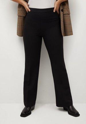 CROWN - Kalhoty - schwarz