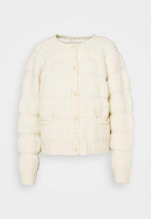 CHUNKY TUBES CARDIGAN - Cardigan - whisper white
