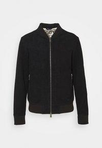 SLHICONIC - Kožená bunda - black