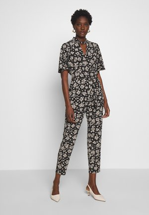 TIE NECK - Jumpsuit - black