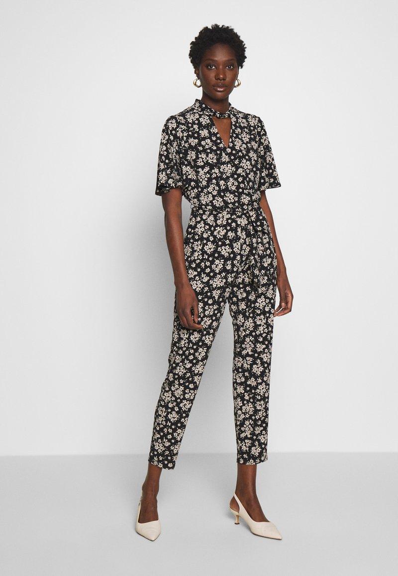 Wallis - TIE NECK - Jumpsuit - black