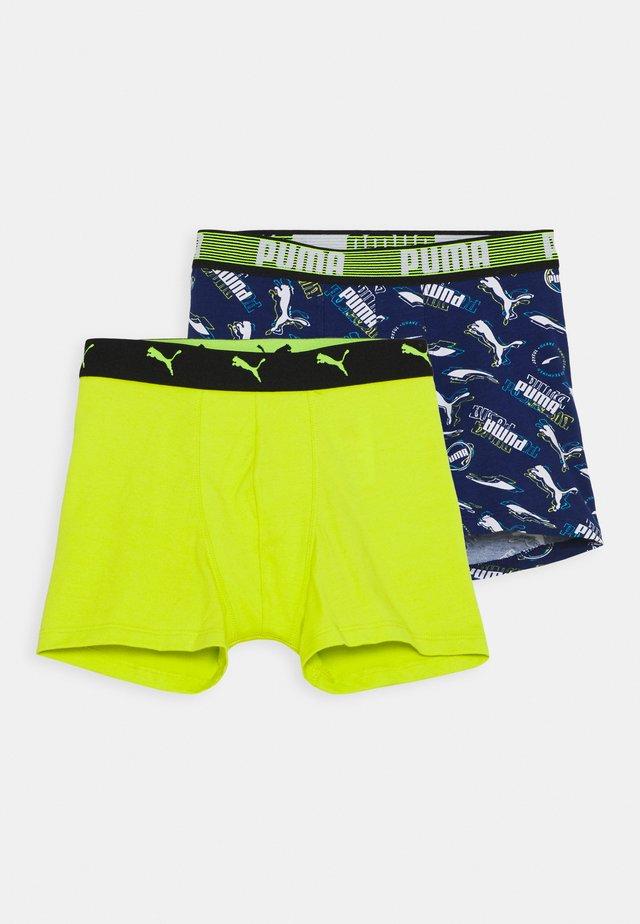 BOYS ALPHA PRINT BOXER 2 PACK - Pants - blue combo