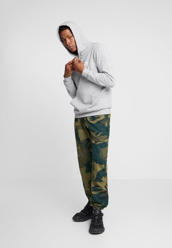 adidas Originals ESSENTIAL HOODY UNISEX - Bluza z kapturem - medium grey heather/szary Odzież Męska RZBJ