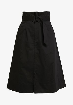 ZIP DOWN SKIRT - A-lijn rok - black