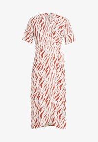 PCEYVA WRAP DRESS  - Maxi dress - bright white/redwood