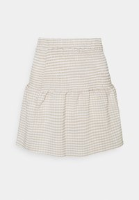 Noisy May Petite - NMFENJA SMOCK SKIRT - Mini skirt - snow white - 0