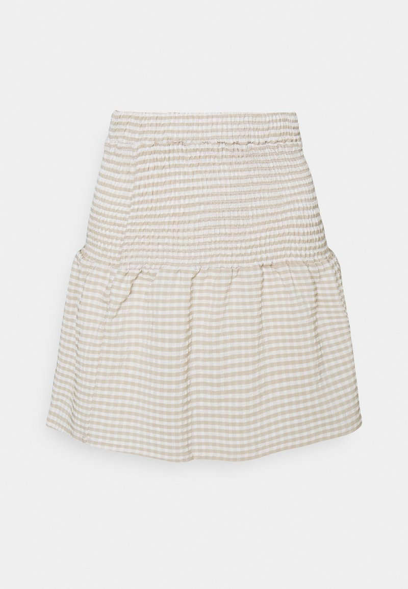 Noisy May Petite - NMFENJA SMOCK SKIRT - Mini skirt - snow white