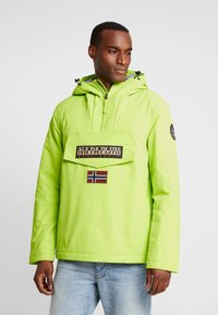 Napapijri - RAINFOREST WINTER - Windbreakers - yellow lime - 0