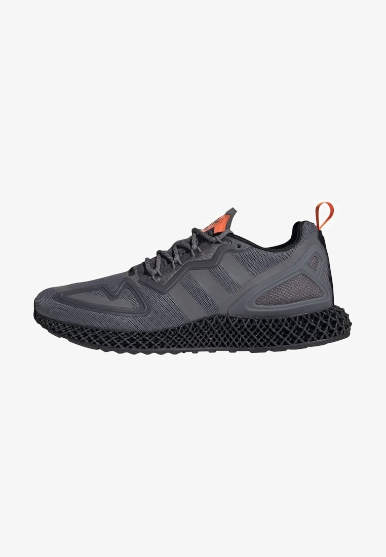 adidas Originals - ZX 4D - Sneakers basse - grey four core black solar orange