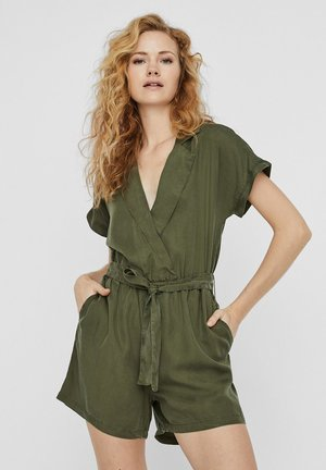 NMNATHALIE S/S ENDI BELT PLAYSUIT B - Combinaison - olive night