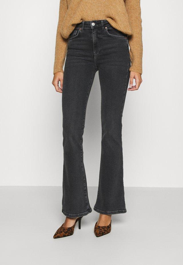 MEJA - Jeans a zampa - black/grey