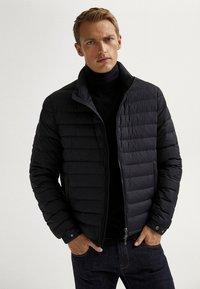Massimo Dutti - Light jacket - blue-black denim - 0