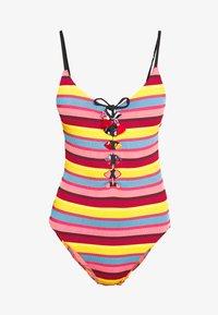 Seafolly - BAJA STRIPE V NECK MAILLOT - Swimsuit - saffron - 3