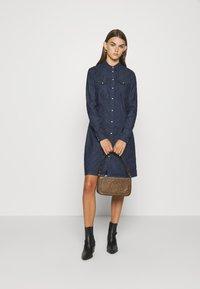 G-Star - TACOMA DRESS LONGSLEEVE - Denim dress - dark aged - 1
