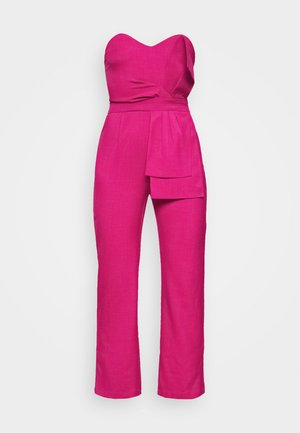 FRONT KNOT DETAIL - Overall / Jumpsuit - cerise
