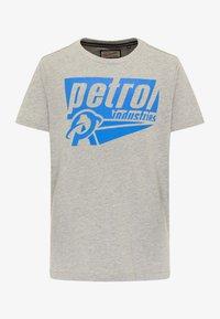 Petrol Industries - Print T-shirt - light grey melee - 0
