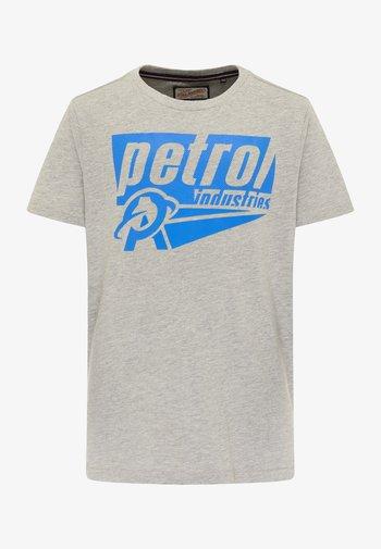 Print T-shirt - light grey melee