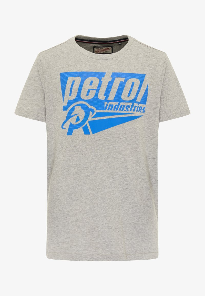 Petrol Industries - Print T-shirt - light grey melee