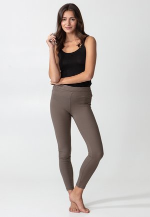 BONNIE RIB - Leggings - Trousers - brown